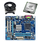 Kit Placa de Baza Refurbished GIGABYTE G31M-ES2L, Intel E6550, Cooler
