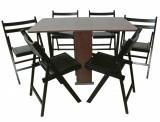 Cumpara ieftin Set masa pliabila Practic wenge cu 6 scaune