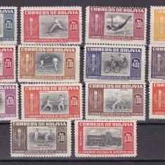 Bolivia  1951  sport   MI 478-491   MLH  w59