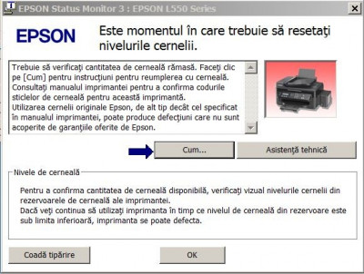Resetare erori imprimante EPSON L si Stylus color (89 modele) foto