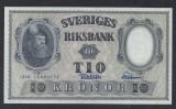 A5169 Sweden Suedia 10 kronor 1958 SEMNATURI DIFERITE UNC