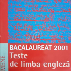 Bacalaureat 2001. Teste de limba engleza