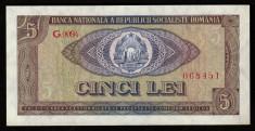 Romania, 5 lei 1966, aUNC_serie G.0094_068451 foto