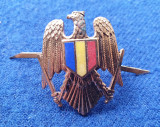 Insigna Militara insemn ofiter VULTUR STEMA EMAIL  - Coifura insemn cascheta