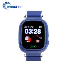 Ceas Smartwatch Pentru Copii Twinkler TKY-Q90 cu Functie Telefon, Localizare GPS, Pedometru, SOS, Joc Matematic - Albastru, Cartela SIM Cadou