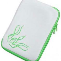 Husa Tableta M-Life ML0431, Universala, pentru tablete de 7inch (Alb/Verde)