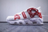 Nike Uptempo x Louis Vuitton SUPREME RED x Custom Unisex, 41, Alb