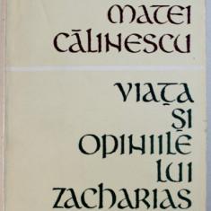 VIATA SI OPINIILE LUI ZACHARIAS LICHTER , DEDICATIE* , 1969