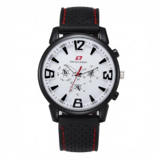 Ceas Barbatesc, curea silicon, stil sport, Swiss Army CS101