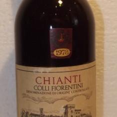 71 - Vin CHIANTI  COLLI FIORENTINI DOC , cl 75 gr 12 recoltare 1978