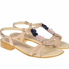 Sandale dama din piele naturala - Made in Romania S47BEJ