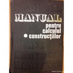 Manual pentru calculul constructiilor vol.1