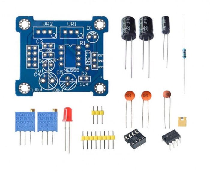 Kit montaj generator de semnal cu NE555 OKY3218-1