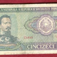Bancnota 50 Lei 1966 - Ceausescu
