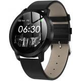 Bratara Smartwatch Techstar® CF18 Eleganta, cu Waterproof P68 si Multiple Functii Fitness, Compatibil iOS & Android, Negru