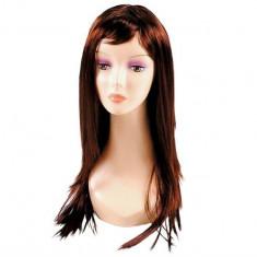 Peruca cu Par Lung de 65cm pentru Femei, Culoare Maro Saten