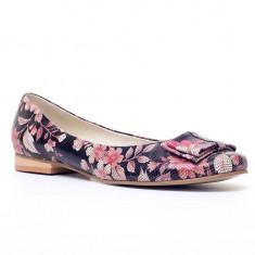 Balerini piele imprimata Roza cu Flori - sau Orice Culoare
