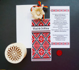Invitatie nunta motive traditionale OPIS023