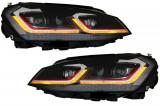 Faruri LED compatibile cu VW Golf 7 VII (2012-2017) Facelift G7.5 GTI Look cu Semnal Dinamic