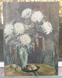 Pictura veche - semnat I. Statescu, Natura statica, Ulei, Realism
