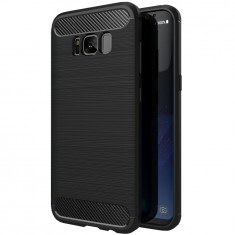 Cumpara ieftin Husa Samsung Galaxy S8 Plus, Carbon PROTECTS, Black