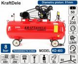 Cumpara ieftin Compresor de aer industrial 50litri, 2.8kW, 480L/min KraftDele KD403