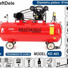 Compresor de aer industrial 50litri, 2.8kW, 480L/min KraftDele KD403