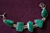 Bratara marcata Argint 925 cu pietre naturale smaralde verzi SAKOTA lung.=19-20