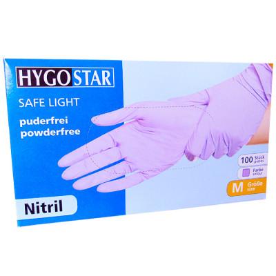 Manusi nitril Safe Light marimea M, violet, 100 bucati/cutie, nepudrate foto