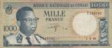 Congo 1000 Francs 1964  P.-8a    VF