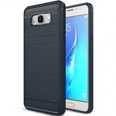 Husa Iberry Carbon Albastru Inchis Pentru Samsung Galaxy J3 J310 2016, Silicon, Carcasa
