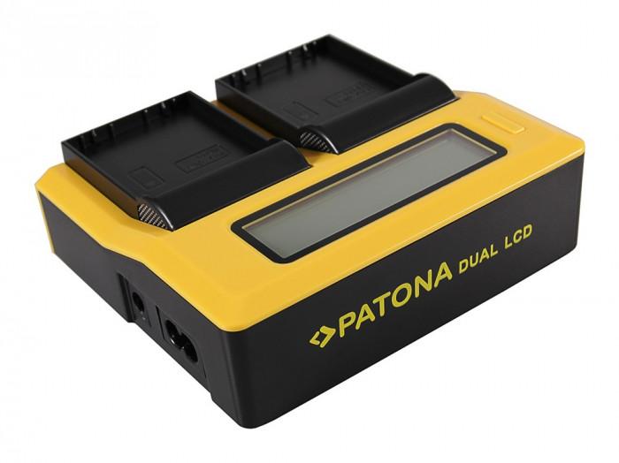 PATONA | Incarcator DUAL LCD pt Sony NP-FV70 NP-FV100 NP FV100 NP-FH100 NP-FP90