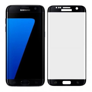 Folie Sticla Curbata Samsung Galaxy S7 Edge Flippy Full Face Negru