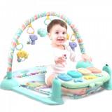 Set educational pentru bebelusi cu covoras pian sunete, proiectie de lumini si zorzoane