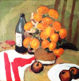Cumpara ieftin Ion Popescu Negreni - Natura statica , ulei pe pinza 65 x 65 cm, Altul