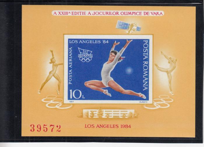 1984 LP 1106 A XXIII-a EDITIE J.O. VARA LOS ANGELES 1984 COLITA NEDANTELATA  MNH