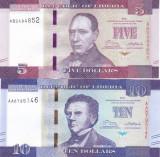 Bancnota Liberia 5 si 10 Dolari 2016 - P31/32 UNC