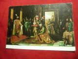 Ilustrata Mihai Viteazul si solii turci - pictura Th.Aman, Necirculata, Printata