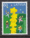 LETONIA 2000 EUROPA CEPT, Nestampilat