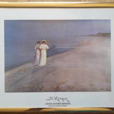 """Reproducere foto după Peter Severin KRØYER-""""Sommerevening at Skagen"""""""