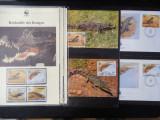 Serie timbre fauna WWF animale reptile crocodil crocodili nestampilate