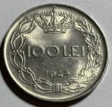 100 Lei 1944, Romania, UNC, Luciu de batere, Fier