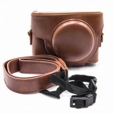 Vhbw kamera-tasche polyurethan braun pentru sony cybershot dsc-rx100 1 2 3 4, ,