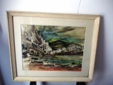 "Sorin IONESCU (1913-1999), ""Marina"", Marine, Grisaille, Altul"
