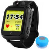 Ceas GPS Copii, iUni Kid730, 3G, DIGI Mobil, Touchscreen, GPS, LBS, Wi-Fi, Camera, buton SOS, Negru + Boxa Cadou