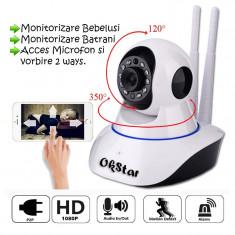 Camera de supraveghere HD IP Wireless P2P night vision, control din smartphone