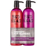 Set Bed Head Dumb Blonde Reconstruct Shampoo 750ml + Conditioner 750ml, Tigi