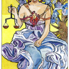 Art Nouveau Tarot-Carti TAROT imagini superbe,ORIGINAL,Sigilat-editie limitata