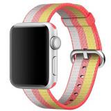 Cumpara ieftin Curea pentru Apple Watch 44 mm iUni Woven Strap, Nylon, Rainbow