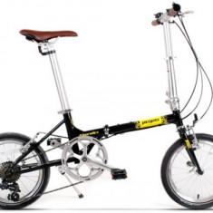 Bicicleta Pegas Teoretic 7S, Pliabila, 7 Viteze (Negru)
